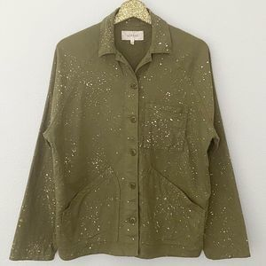 The Great Field Metallic Speckle Green Jacket 1 S